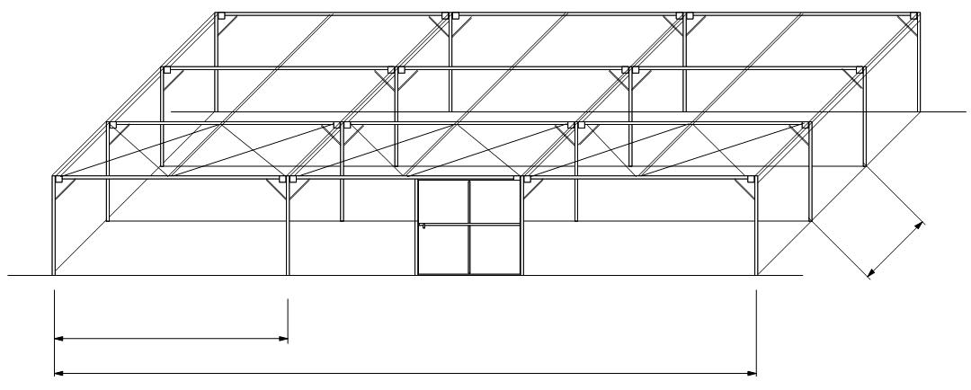 Invernaderos serie sombr culo techo plano adc for Estructuras para viveros plantas